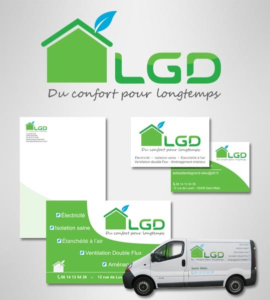 Réalisation de l'identité visuelle LGD à Saint-Malo