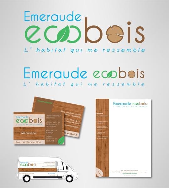 Création de l'identité visuelle Emraude Ecobois à La Fresnais