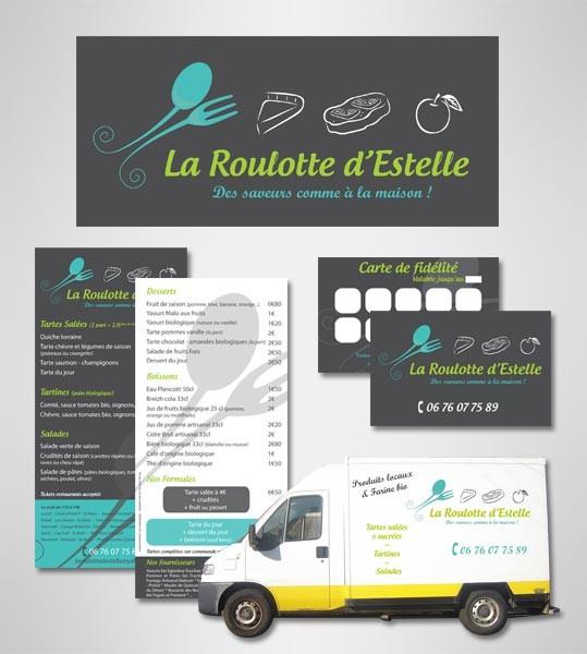 Création de l'identité visuelle La Roulotte d'Estelle à Saint-Malo
