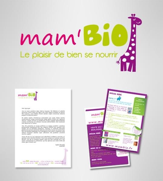 Création du logo mam'BIO à Saint-Malo