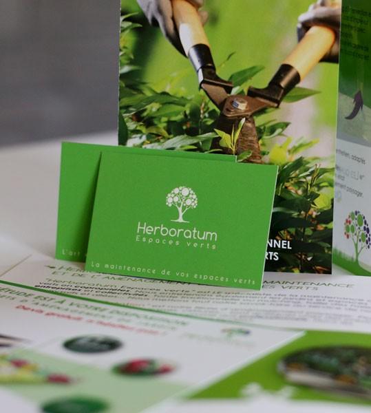 Création de supports de communication pour Herboratum à Orgères