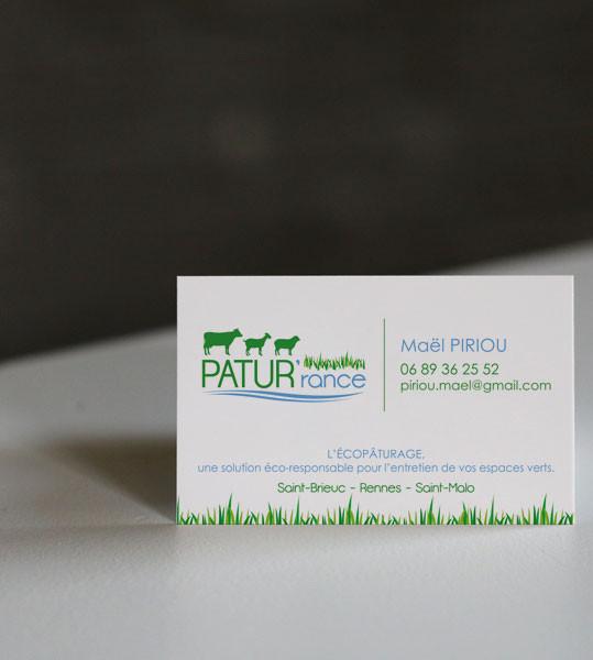 Création du logotype PATUR'rance à Saint-André -des-Eaux