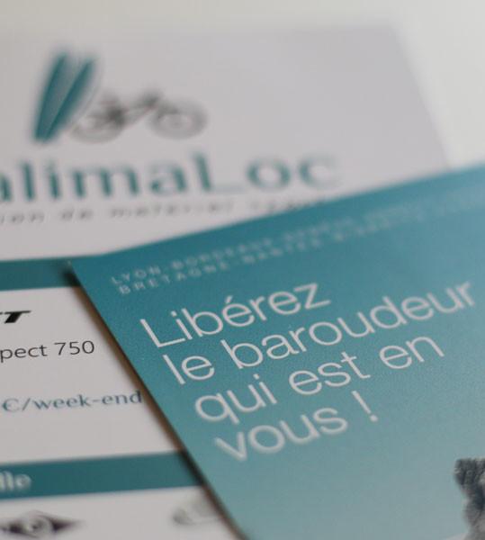 Conception de l'identité visuelle de CalimaLoc à Saint-Malo