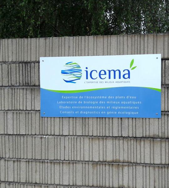 Création de l'identité visuelle de l'entreprise Icema à Saint-Malo